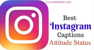 Best Instagram Caption Attitude Status in Hindi English
