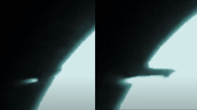 Space object catches fire before hitting the Moon  Rocket-ufo-space-moon