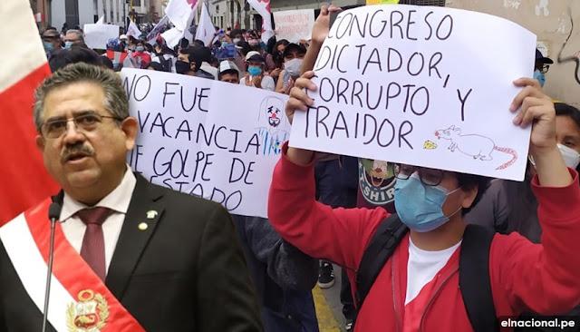 Merino es presidente del Perú con apenas 5.000 votos