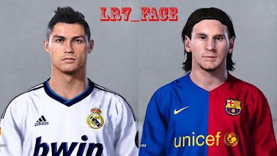 PES 2019 Faces Cristiano Ronaldo 2012 & Lionel Messi 2007