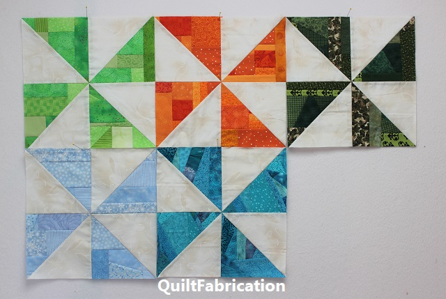 five months of pinwheel quilt blocks for RSC2020