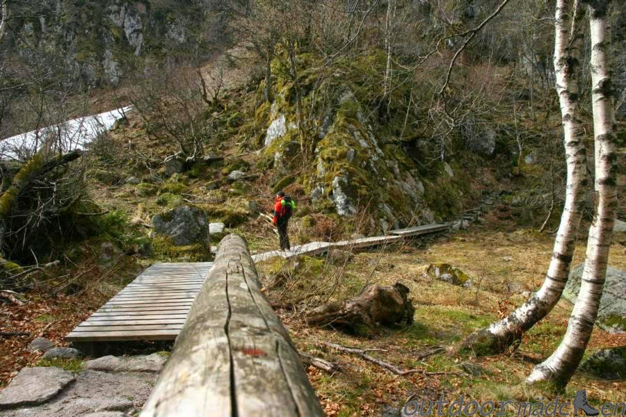 Klettersteig Vogesen : Aussichtsreiche kraxelpartie in den vogesen der sentier des