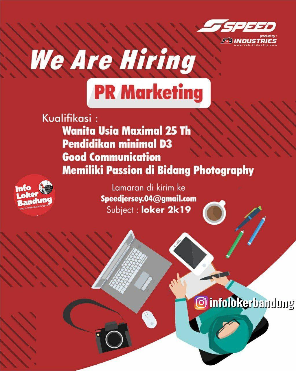 Lowongan Kerja PR Marketing Speed Jersey Bandung September 2019