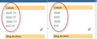 How to Remove Label's Post Count in Blogger Blogs