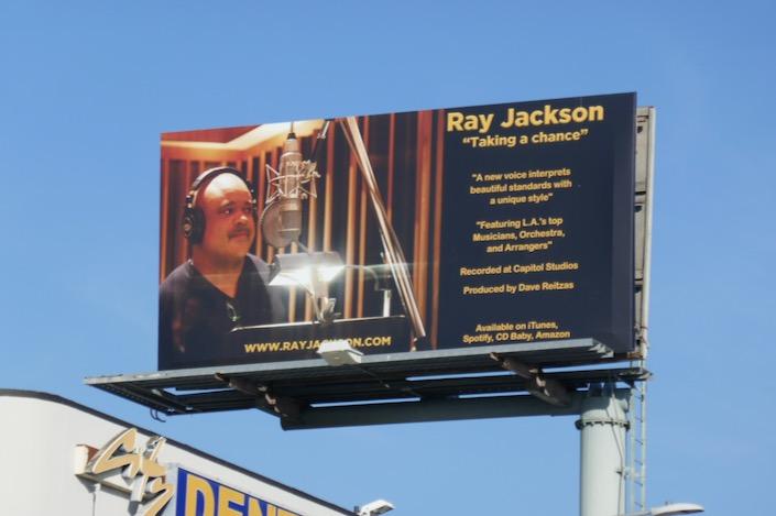 Ray Jackson Taking a chance billboard