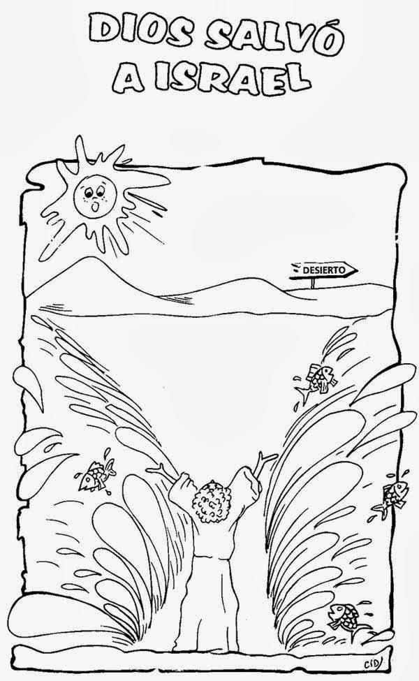 Increíble Página Para Colorear De Bebé Moses Festooning - Dibujos ...