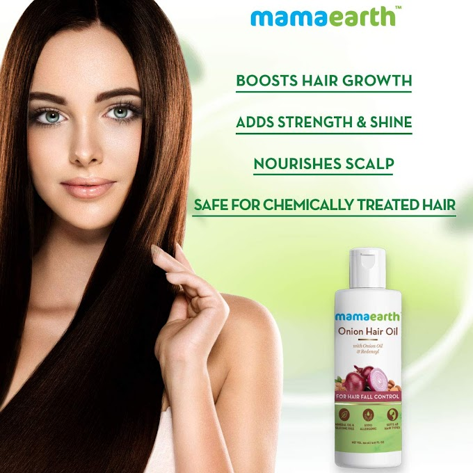 Mamaearth onion hair oil benefits in hindi | onion hair oil review in hindi
