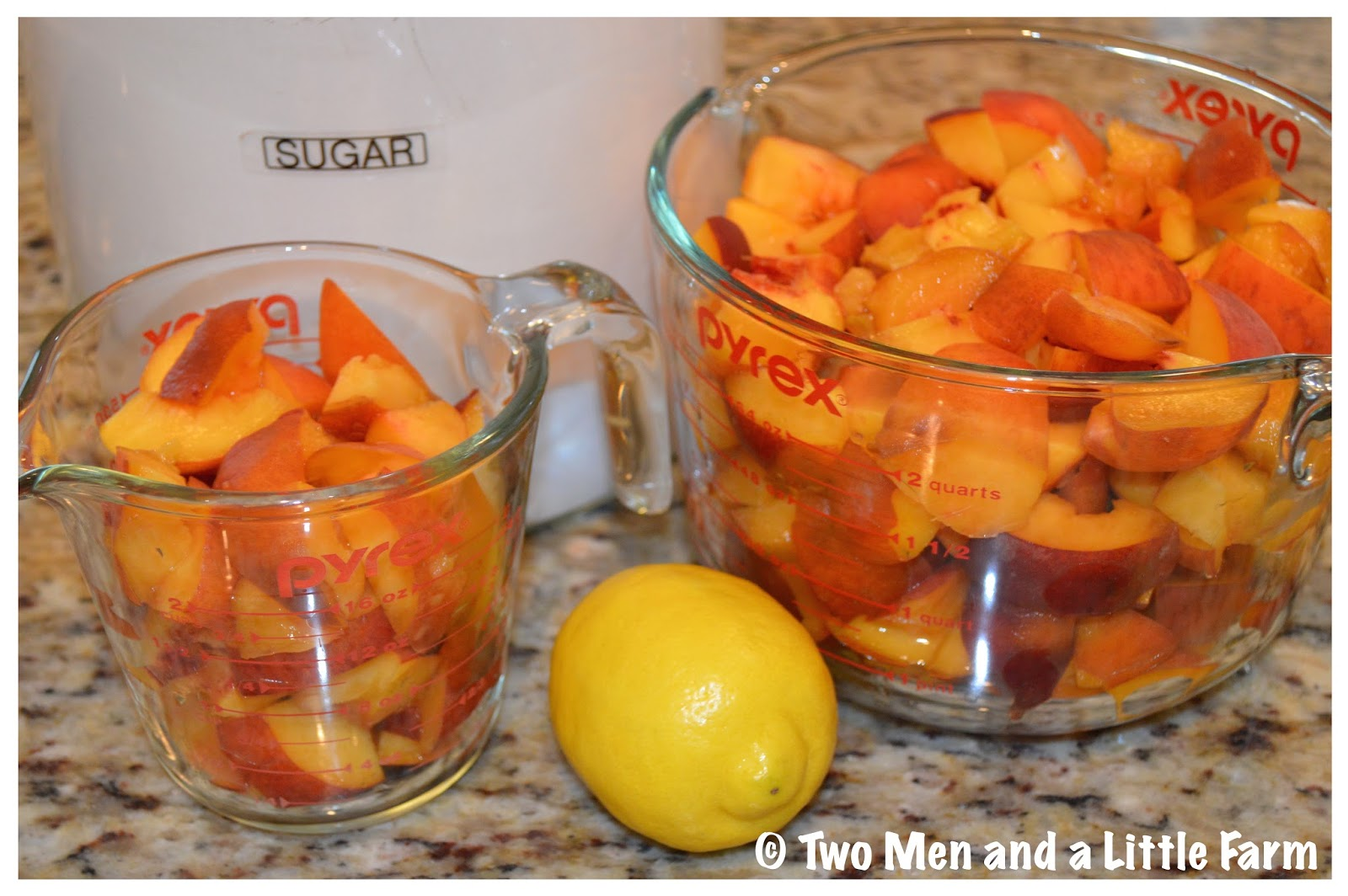 Two Men and a Little Farm: CANNING PEACH JAM WITHOUT PECTIN