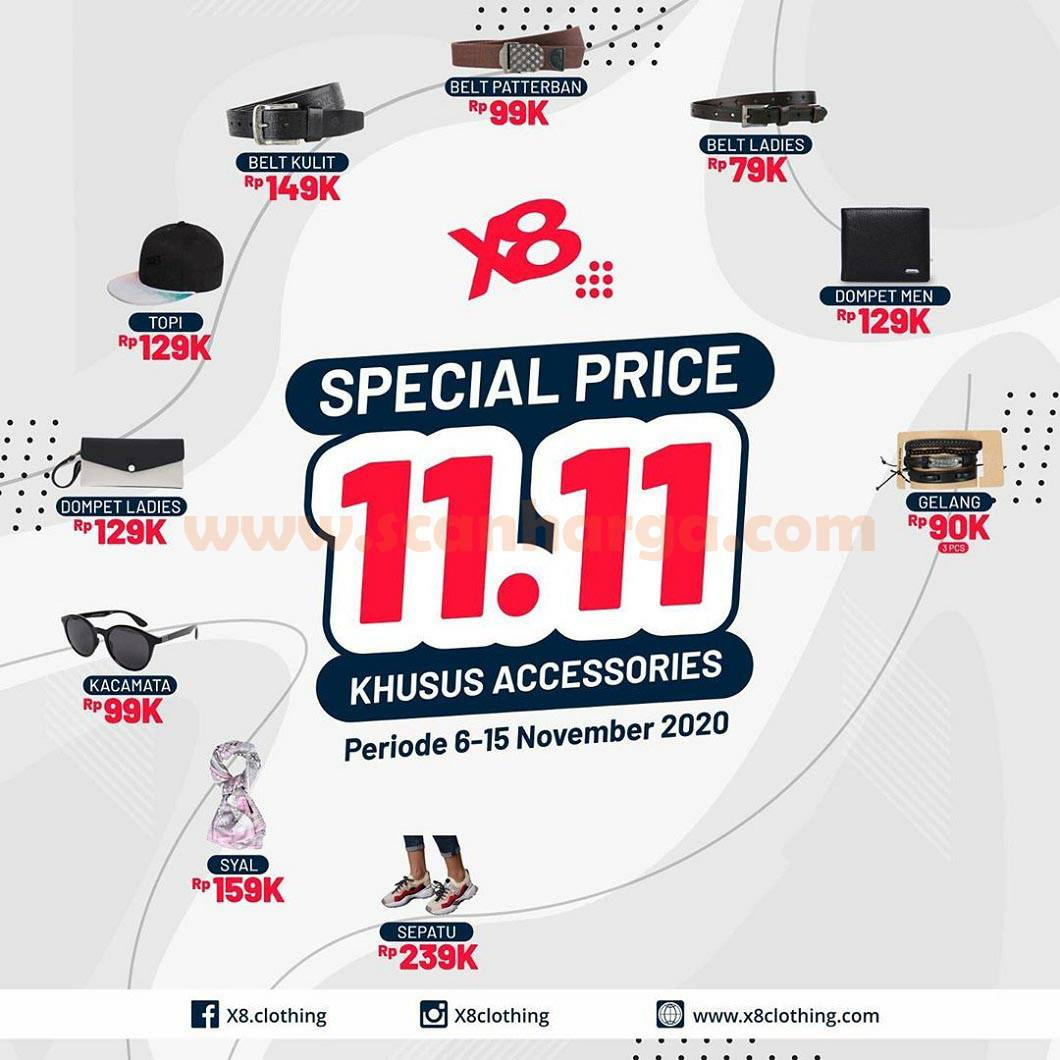 X8 Clothing Promo Special Price 11.11 Khusus Accessories*