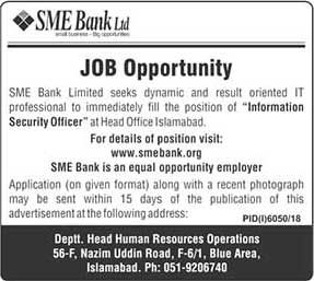 SME Bank Limited Latest Jobs June 2019