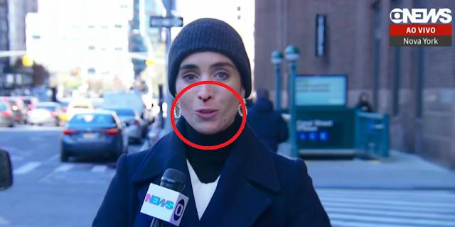 Jornalista da GloboNews sofre sangramento nasal ao vivo