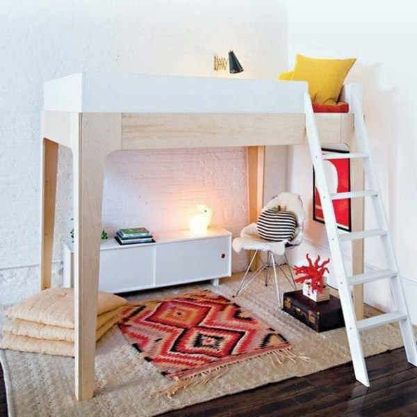 Bunk Bed For Youths In White Color