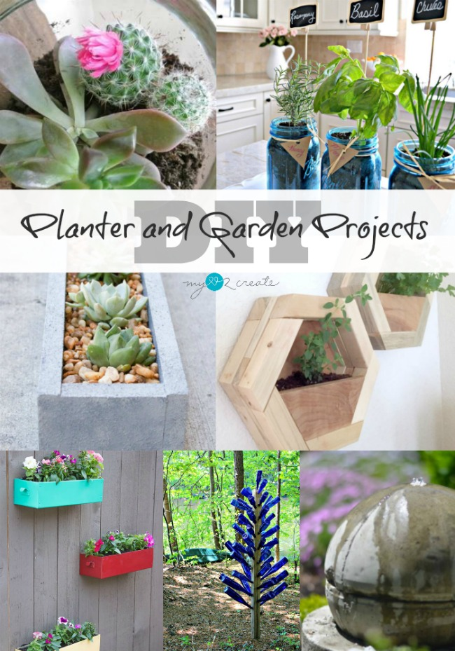 DIY Planter and Garden Projects at MyLove2Create