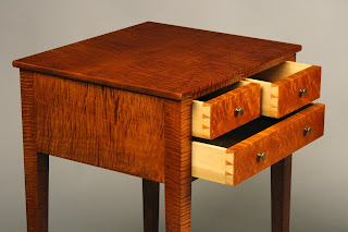 Handmade Nightstand with hand cut dovetail drawer