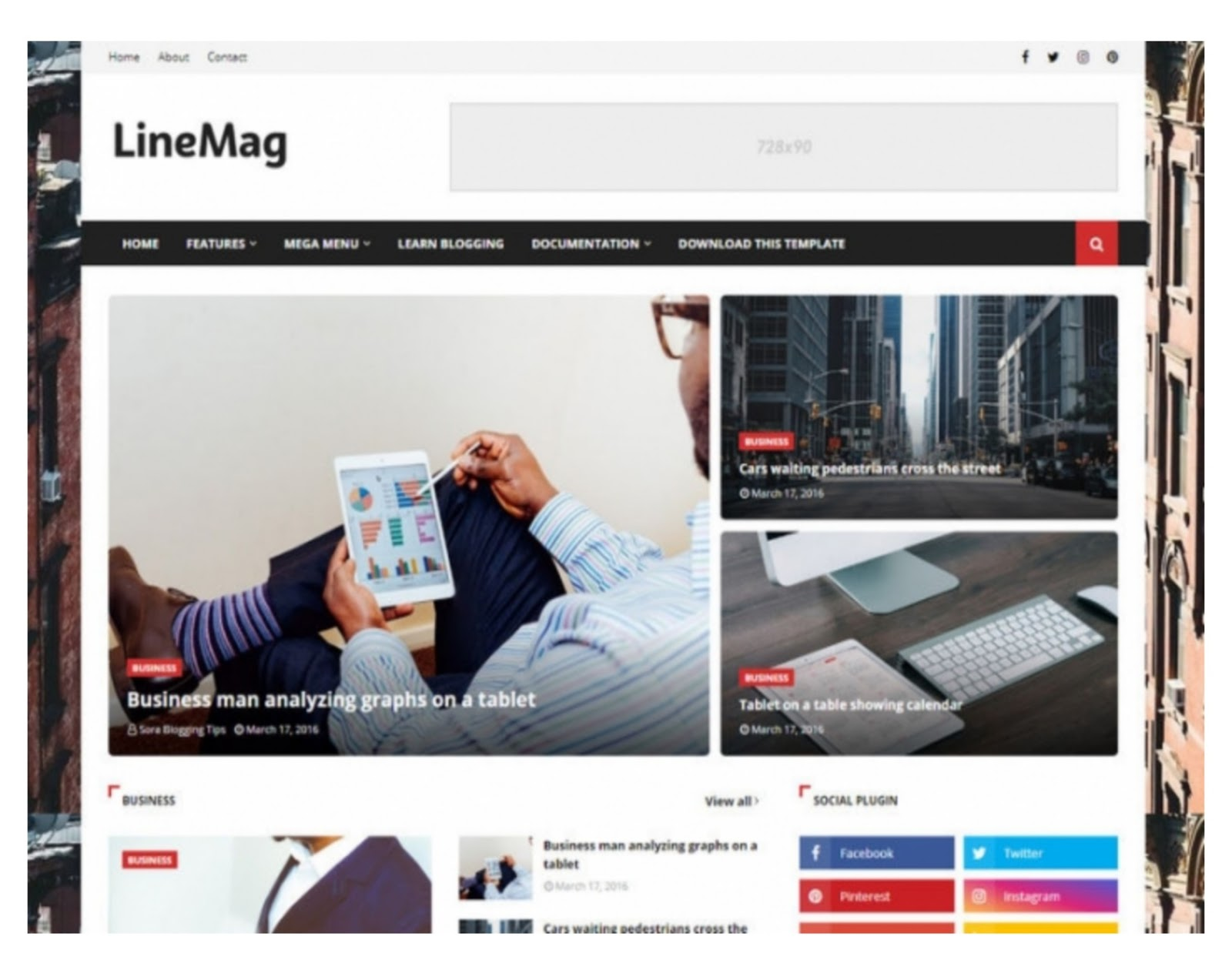 Line Mag Blogger Template