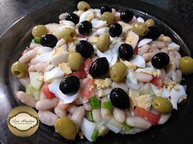 Ensalada de alubias blancas a la vinagreta