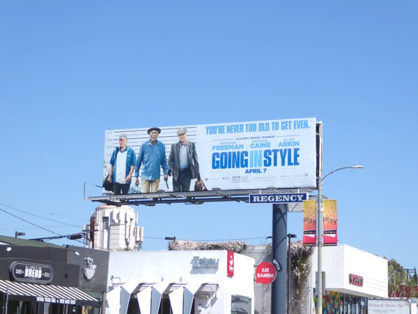 Going in Style film billboard