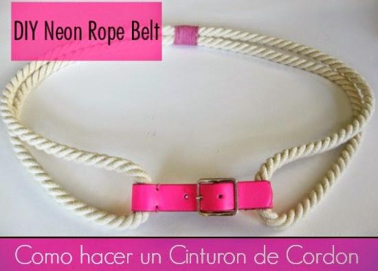 Como hacer un Cinturon de Cordon