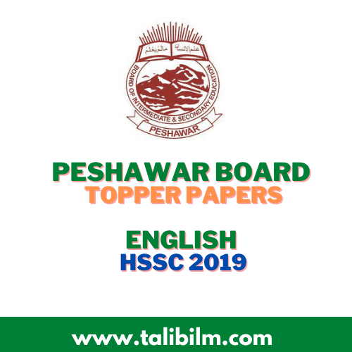 Peshawar Board Topper Papers English HSSC