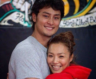 Darvish With His Present Wife Seiko Yamamoto
