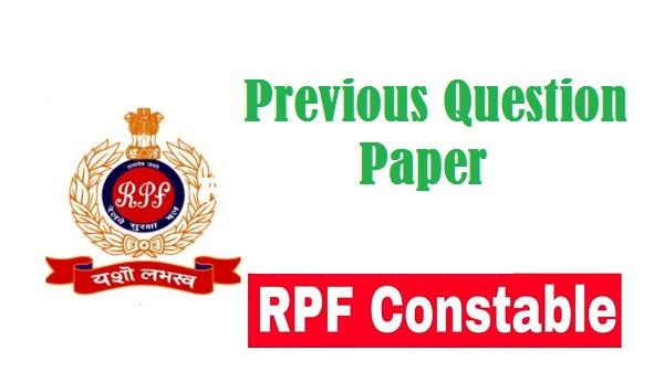 RPF Constable Question Paper