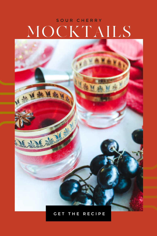sour cherry mocktails