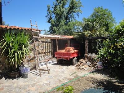 Construção do telheiro