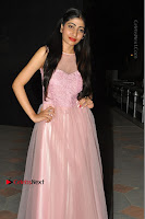 Actress Nidhisha Reddy Pos in Beautiful Pink Dress at Virus Telugu Movie Audio Launch .COM 0010.JPG