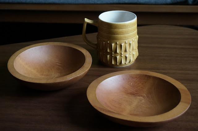 tasse BP 70s mug 60s bamboo bowl bol bambou années 60 70 vintage