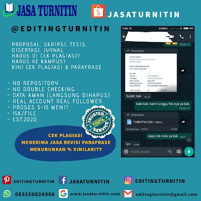 Jasa Cek Plagiasi Turnitin Murah Dan Terlengkap Di Daerah Istimewa Yogyakarta