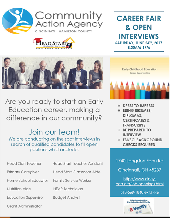 Community Action Agency Career Fair and Open Interviews
