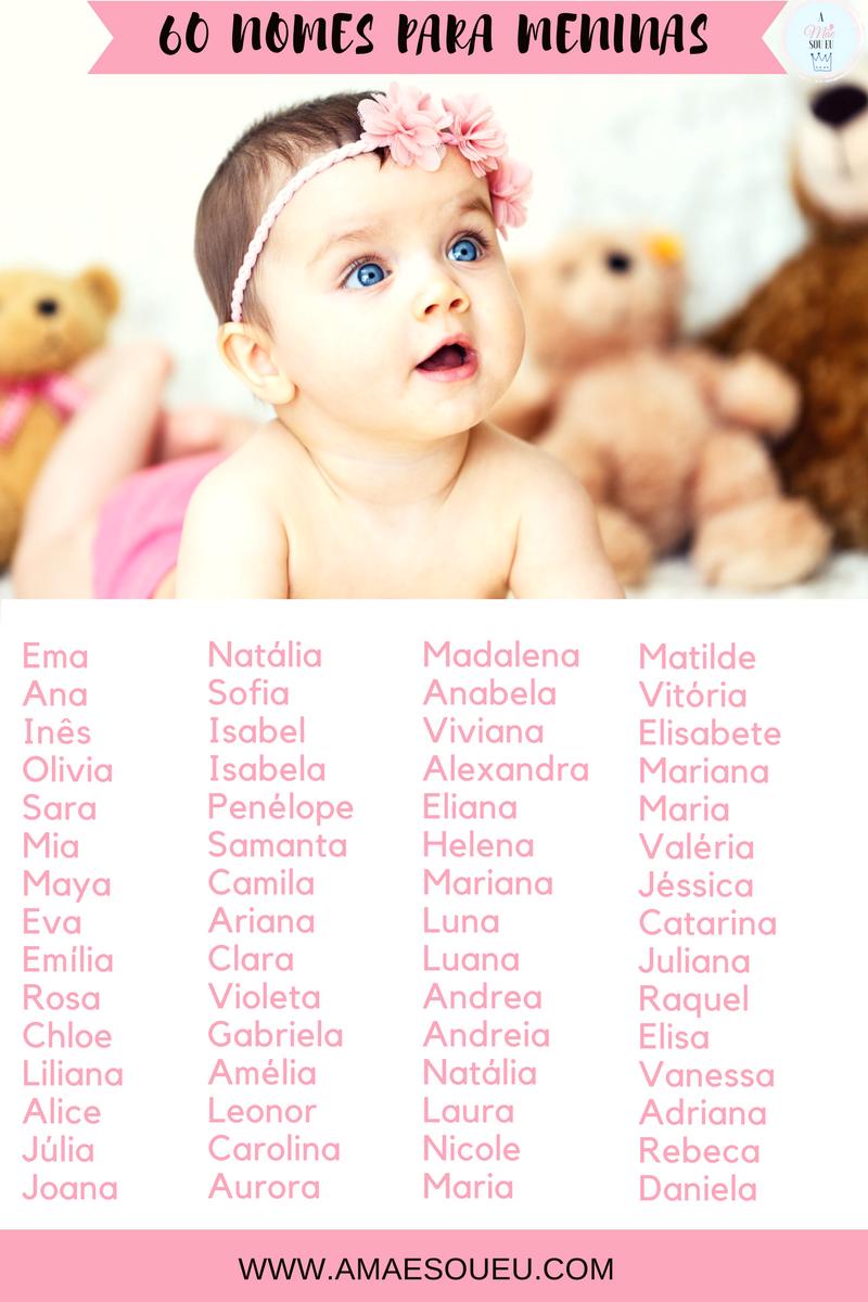 60 Nomes Mais Bonitos Para Meninas- wwwm.amaesoueu.com - #nomesmeninas #nomes #para #bebés #meninas