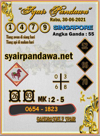 Gambar Syair Pandawa Sgp rabu 30 juni 2021