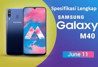 Spesifikasi Lengkap Samsung Galaxy M40 dan Harga Galaxy M40