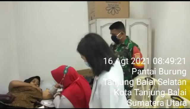 Pelayanan KB Kes di Puskesmas Turut Serta Didampingi Personel Jajaran Kodim 0208/Asahan