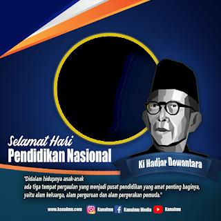 Template twibbon hari pendidikan nasional PSD- kanalmu