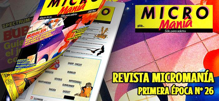 Revista Micromanía Primera época Nº 26 (1987)
