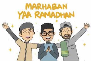 stiker keren selamat bulan puasa ramadhan