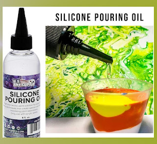 Silicone oil for acrylic pouring