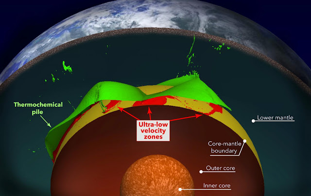 Puzzling pockets of rock deep in Earth's mantle explained