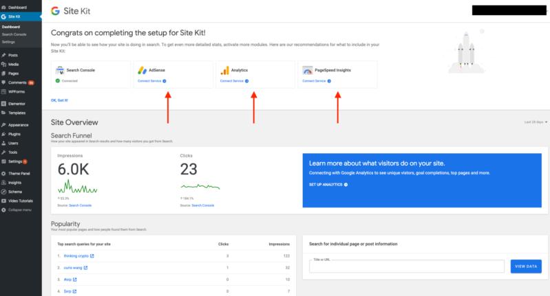 WordPress Google Site Kit Plugin