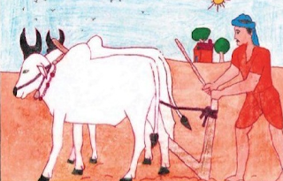 Indian Farmer Essay in Hindi