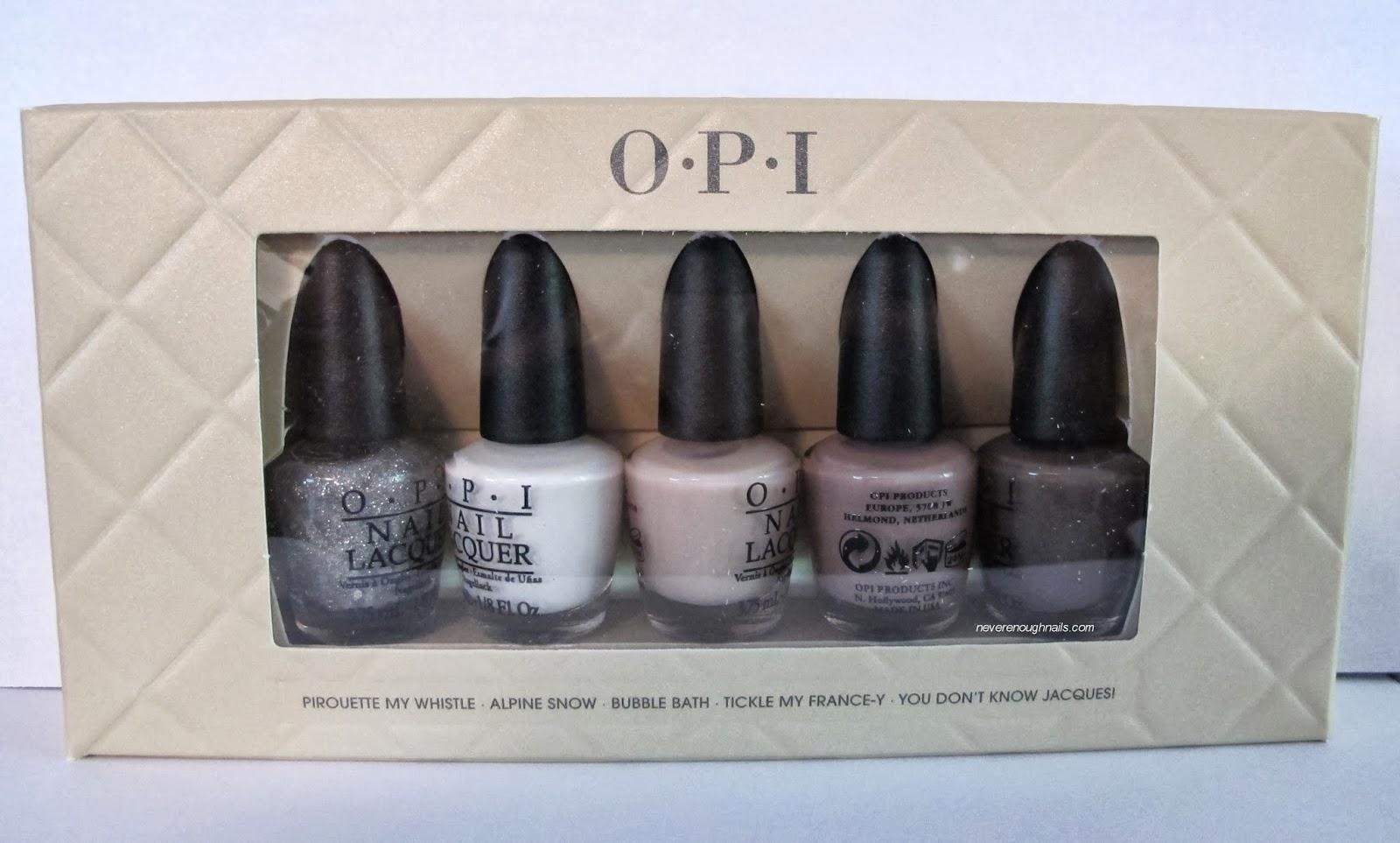 Mini Opi Nail Polish Gift Sets - To Bend Light