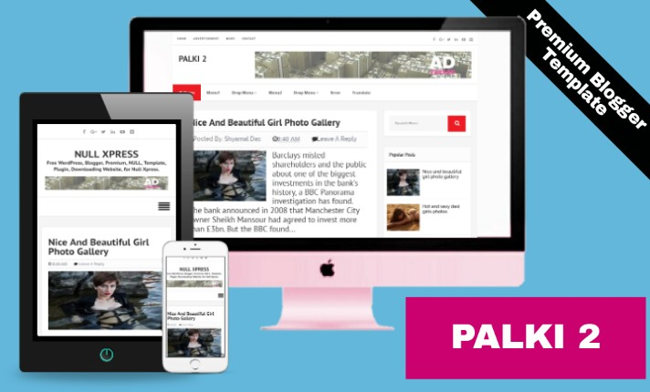 Palki 2 Premium Blogger Template Free
