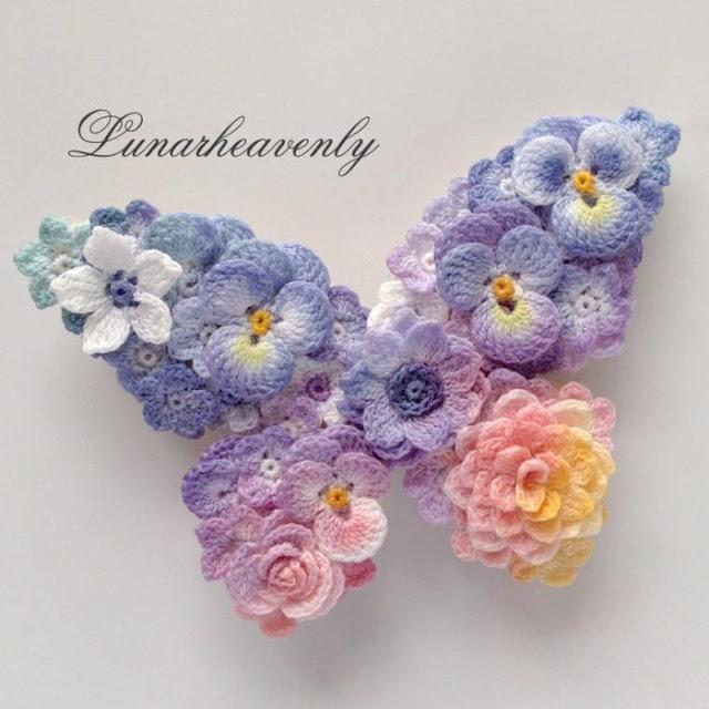 Como fazer flores de crochê para aplicação lindas