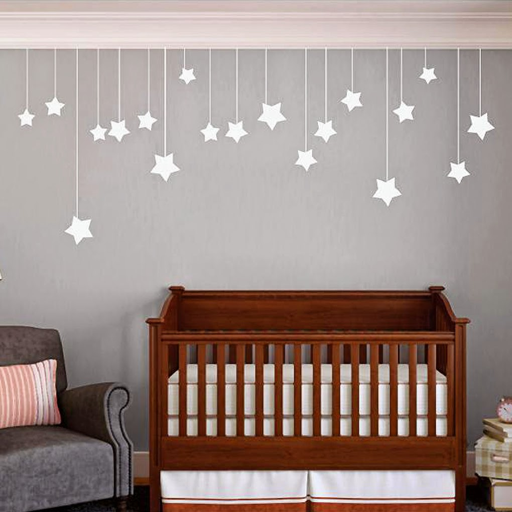 My top 10 gender neutral nursery wall decals sweetums signatures httpsweetumssignatureshanging stars wall amipublicfo Choice Image