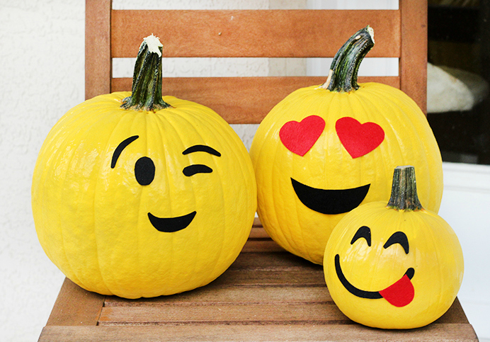 cute emoji pumpkin no carve how to