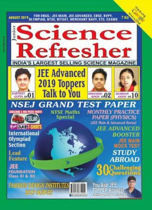Junior-Science-Refresher-August-2019-For-IIT-JEE-Exam-PDF-Book