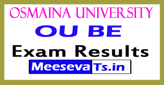 Osmaina University BE Exam Results 2017