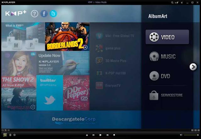 KMPlayer Fantástico reproductor multimedia gratuito